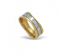Ocelový prsten s krystaly RSCL11