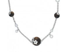 Stříbrný náhrdelník Cacharel CNC094M40, materiál stříbro 925/1000, dřevo, váha: 7.00g