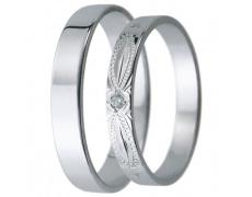 Snubní prsteny kolekce D31, materiál bílé zlato 585/1000, zirkon , váha: u velikosti 54mm - 2.40g
