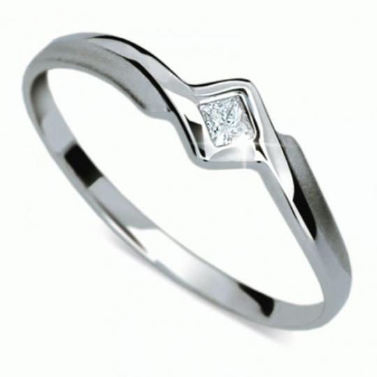 Briliantový prsten Danfil DF1113, materiál bílé zlato 585/1000, 1x briliant VS1/G= 0.045 ct, váha: 0