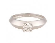 Zlatý Prsten Soliter 224 00871 07, materiál bílé zlato 585/1000, 1x briliant = 0.379 ct, váha: 2.40g