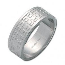 Prsten  z chirurgické oceli RSLW02