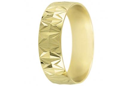 Snubní prsteny kolekce SP6-G, materiál žluté zlato 585/1000 , váha: u velikosti 54mm - 4.50g