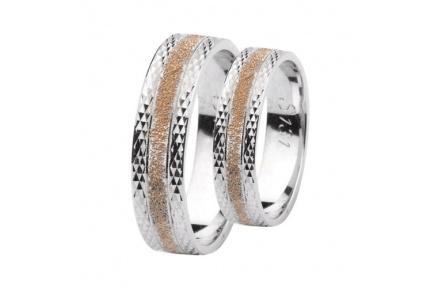 Snubní prsteny Lucie Gold Charlotte S-131, materiál bílé, růžové zlato 585/1000, váha: průměrná 8.50