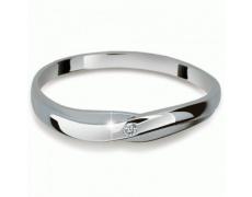 Briliantový prsten Danfil DF2006, materiál bílé zlato 585/1000, 1x briliant SI1/G = 0.015 ct, váha: