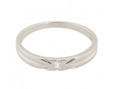 Zlatý Prsten Soliter 224 00863 07, materiál bílé zlato 585/1000, 1x briliant = 0.032 ct, váha: 1.75g