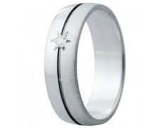 Snubní prsteny kolekce ELISKA_11, materiál bílé zlato 585/1000, ruthenium, zirkon, váha: u velikosti