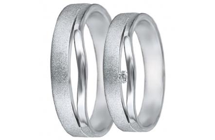 Snubní prsteny kolekce U1, materiál bílé zlato 585/1000, zirkon , váha: u velikosti 54mm - 3.90g