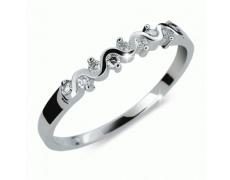 Briliantový prsten Danfil DF2086, materiál bílé zlato 585/1000, 9x briliant SI1/G = 0.112 ct, váha: