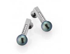 Náušnice s diamanty TeNo Pearls 039-20PGP01