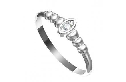 Zásnubní prsten s briliantem Leonka  012, materiál bílé zlato 585/1000, briliant SI1/G - 2.25mm, váh