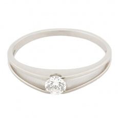Zlatý Prsten Soliter 224 00851 07, materiál bílé zlato 585/1000, 1x briliant = 0.16 ct, váha: 1.50g