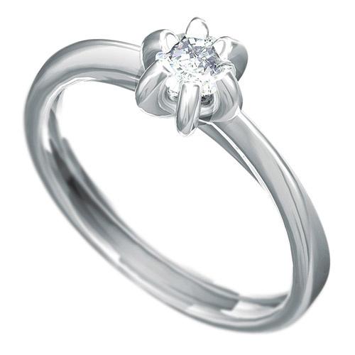 Zásnubní prsten Dianka 812, materiál bílé zlato 585/1000, zirkon 4.0mm, váha: u velikosti 54mm - 2.2