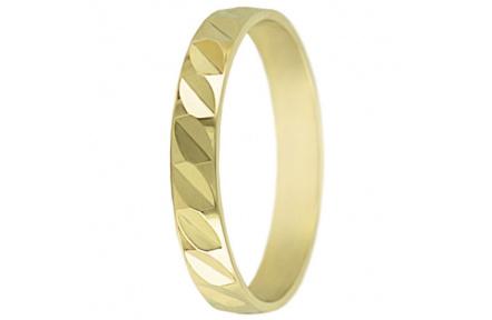 Snubní prsteny kolekce SP3-C, materiál žluté zlato 585/1000 , váha: u velikosti 54mm - 2.40g