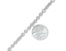 Stříbrný náramek Cacharel CSB212Z18, materiál stříbro 925/1000, zirkon, váha: 10.80g