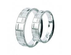 Snubní prsteny Lucie Gold Charlotte S-053-b, materiál bílé zlato 585/1000, váha: průměrná 6.60g