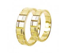 Snubní prsteny Lucie Gold Charlotte S-053, materiál žluté zlato 585/1000, váha: průměrná 6.60g