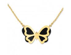 Zlatý náhrdelník Cacharel XB507JD, materiál žluté zlato 585/1000, onyx, váha: 4.40g