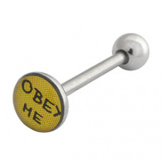 Piercing do jazyka OBEY ME HRPP34