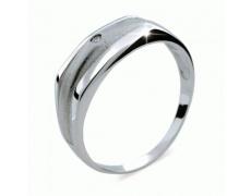 Briliantový prsten Danfil DF1185, materiál bílé zlato 585/1000, 1x briliant SI1/G = 0.016 ct, váha: