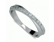Briliantový prsten Danfil DF1972, materiál bílé zlato 585/1000, 18x briliant SI1/G = 0.360 ct, váha: