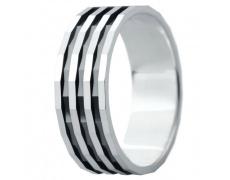 Snubní prsteny kolekce ELISKA_03, materiál bílé zlato 585/1000, ruthenium, váha: u velikosti 54mm -