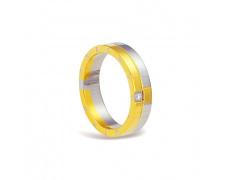 Ocelový prsten se zirkonem RSM03