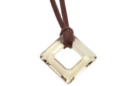 Přívěsek Square Gold Brown 4830
