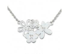 Stříbrný náhrdelník Cacharel CSC082Z40, materiál stříbro 925/1000, zirkon, váha: 3.90g
