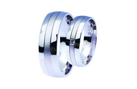 Snubní prsteny Lucie Gold Charlotte S-250, materiál bílé zlato 585/1000, zirkon, váha: průměrná 11.0