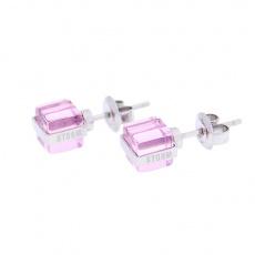 Náušnice Storm Mini Cubic Pink