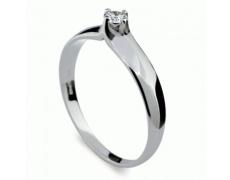 Briliantový prsten Danfil DF1891, materiál bílé zlato 585/1000, 1x briliant SI1/G = 0.130 ct, váha: