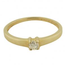Zlatý Prsten Soliter 224 00760 00, materiál žluté zlato 585/1000, 1x briliant = 0.108 ct, váha: 1.45