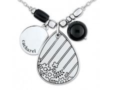 Stříbrný náhrdelník Cacharel COC198N45, materiál stříbro 925/1000, onyx, váha: 12.10g