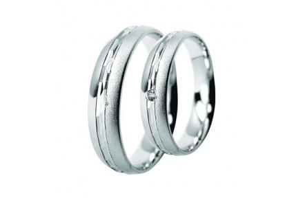Snubní prsteny Lucie Gold Charlotte S-193, materiál bílé zlato 585/1000, zirkon, váha: průměrná 6.70