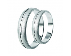 Snubní prsteny Lucie Gold Charlotte S-130-B, materiál bílé zlato 585/1000, váha: průměrná 7.00g