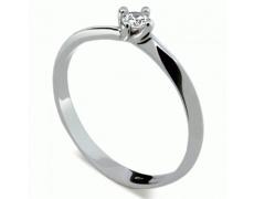 Briliantový prsten Danfil DF1907, materiál bílé zlato 585/1000, 1x briliant SI1/G = 0.092 ct, váha: