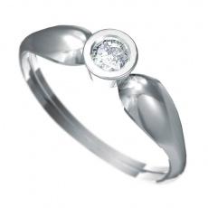 Zásnubní prsten Dianka 806, materiál bílé zlato 585/1000, zirkon 4.0mm, váha: u velikosti 54mm - 1.5