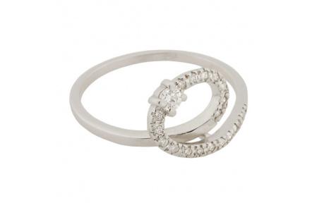 Zlatý Prsten Soliter 224 40416 07, materiál bílé zlato 585/1000, brilianty = 0.155 ct, váha: 1.95g