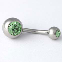 Piercing do pupíku JBL2S1peridot
