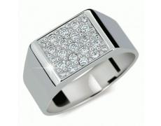 Briliantový prsten Danfil DF2070, materiál bílé zlato 585/1000, 23x briliant SI1/G = 0.655 ct, váha: