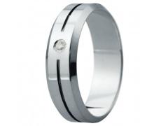 Snubní prsteny kolekce ELISKA_07, materiál bílé zlato 585/1000, ruthenium, zirkon, váha: u velikosti