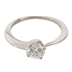 Zlatý Prsten Soliter 224 00855 07, materiál bílé zlato 585/1000, 1x briliant = 0.70 ct, váha: 1.50g