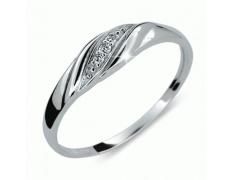 Briliantový prsten Danfil DF2084, materiál bílé zlato 585/1000, 3x briliant SI1/G = 0.022 ct, váha: