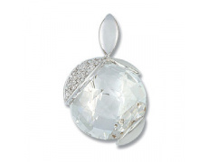 Zlatý přívěsek Cacharel XD112GQB3, materiál bílé zlato 585/1000, křemen, diamant-0.05 ct, váha: 1.70