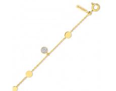 Zlatý náramek Cacharel XC624BB3, materiál žluté zlato 585/1000, diamant-0.11 ct, váha: 3.10g