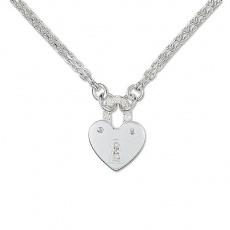 Zlatý náhrdelník Cacharel XF508GB3, materiál bílé zlato 585/1000, diamant-0.09 ct, váha: 5.40g