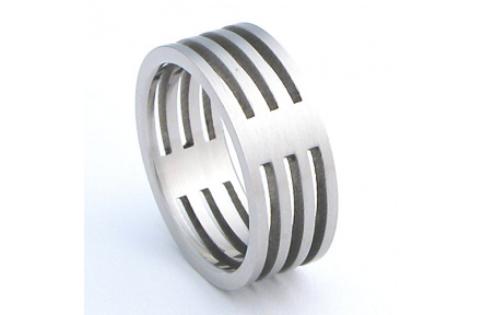 Prsten z chirurgické oceli RSSC29