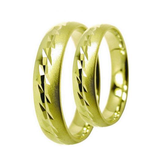 Snubní prsteny Lucie Gold Charlotte S-194, materiál žluté zlato 585/1000, váha: průměrná 7.20g