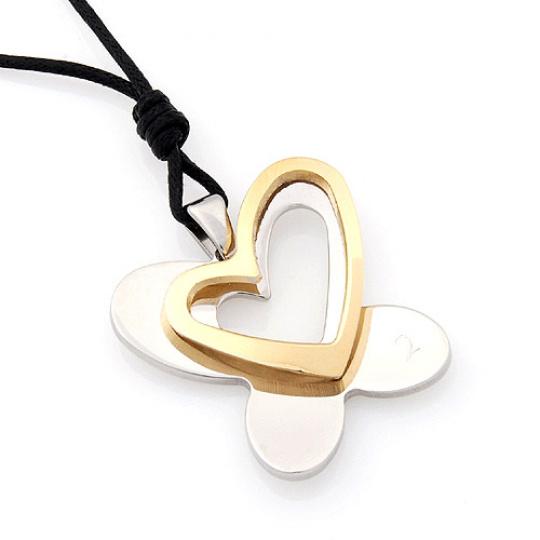 Přívěsek Due Fly Heart Gold